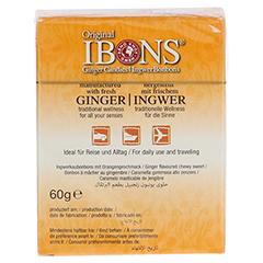 IBONS Orange Ingwerkaubonbons Orig.Schachtel 60 Gramm - Rückseite