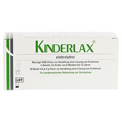 KINDERLAX elektrolytfrei Plv.z.Her.e.Lsg.z.Einn. 30 Stück - Rückseite