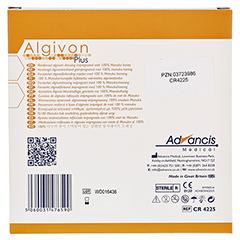 ALGIVON Plus Honigalginat Wundauflage 10x10 cm 5 Stück - Rückseite