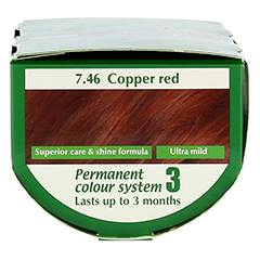HENNAPLUS Long Lasting copper red 7,46 100 Milliliter - Oberseite
