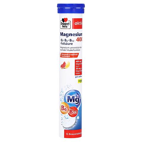DOPPELHERZ Magnesium 400+B-Vit.+Fols.Brausetabl. 15 Stück