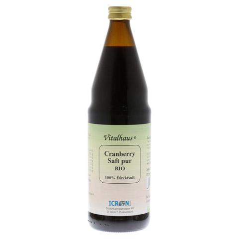 CRANBERRY SAFT pur Bio Vitalhaus 750 Milliliter
