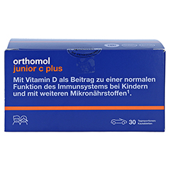 ORTHOMOL Junior C plus Kautabl.Mandarine/Orange 30 Stück - Vorderseite