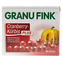 GRANU FINK Cranberry-Kürbis PLUS Tabletten 60 Stück - Vorderseite