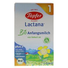 TÖPFER Lactana Bio 1 Pulver 600 Gramm - Vorderseite