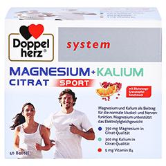 DOPPELHERZ Magnesium+Kalium Citrat system Granulat 40 Stück - Vorderseite