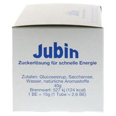 JUBIN Zuckerlösung schnelle Energie Tube 12x40 Gramm - Linke Seite