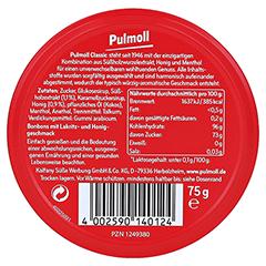 PULMOLL Hustenbonbons Classic 75 Gramm - Rückseite