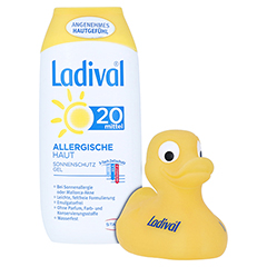 Ladival Allergische Haut Gel LSF 20 + gratis Ladival UV-Ente 200 Milliliter