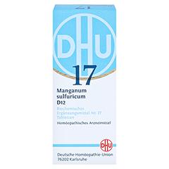 BIOCHEMIE DHU 17 Manganum sulfuricum D 12 Tabl. 80 Stück N1 - Vorderseite
