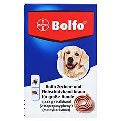 BOLFO Flohschutzband braun f.große Hunde 1 Stück - Vorderseite