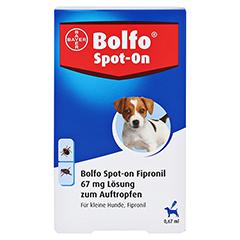 BOLFO Spot-On Fipronil 67 mg Lsg.f.kleine Hunde 3 Stück - Vorderseite
