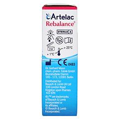 Artelac Rebalance Augentropfen 10 Milliliter - Rechte Seite