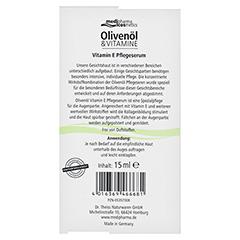 medipharma Olivenöl Vitamin E Pflegeserum 15 Milliliter - Rückseite