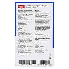 BOLFO Spot-On Fipronil 50 mg Lsg.f.Katzen 3 Stück - Rückseite