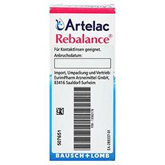 Artelac Rebalance Augentropfen 10 Milliliter - Rückseite