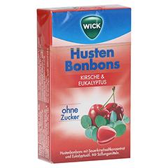 WICK Wildkirsche & Eukalyptus Bonbons ohne Zucker 46 Gramm