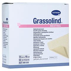 GRASSOLIND Salbenkompressen 7,5x10 cm steril 50 Stück