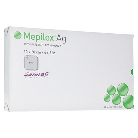 MEPILEX Ag Schaumverband 10x20 cm steril 5 Stück