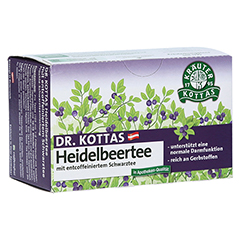 DR.KOTTAS Heidelbeertee Filterbeutel 20 Stück