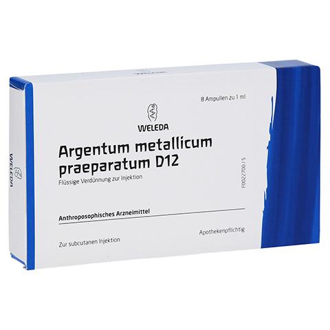 ARGENTUM METALLICUM praeparatum D 12 Ampullen 8 Stück N1