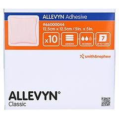 ALLEVYN Adhesive 12,5x12,5 cm haftende Wundauflage 10 Stück - Vorderseite