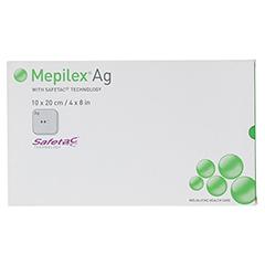 MEPILEX Ag Schaumverband 10x20 cm steril 5 Stück - Vorderseite