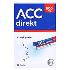ACC direkt 600mg Pulver zum Einnehmen 10 Stück - Vorderseite