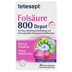 TETESEPT Folsäure 800 Depot Tabletten 40 Stück - Vorderseite