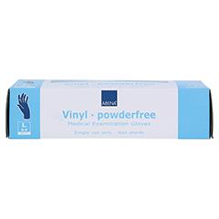 VINYL Handschuhe puderfrei large blau 100 Stück - Vorderseite