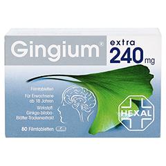 Gingium extra 240mg + gratis Gingium Rätselbuch 80 Stück - Vorderseite