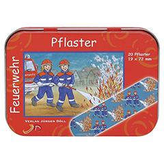 KINDERPFLASTER Feuerwehr Dose 20 Stück - Vorderseite
