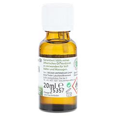 ZIRBEN-Öl ätherisch Unterweger Bio 20 Milliliter - Linke Seite
