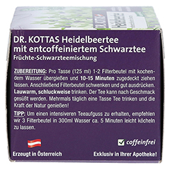 DR.KOTTAS Heidelbeertee Filterbeutel 20 Stück - Linke Seite