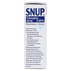 Snup Schnupfenspray 0,05% 15 Milliliter N2 - Linke Seite