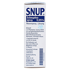 Snup Schnupfenspray 0,05% 15 Milliliter N2 - Rechte Seite