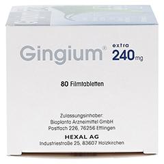 GINGIUM extra 240 mg Filmtabletten 80 Stück - Rechte Seite