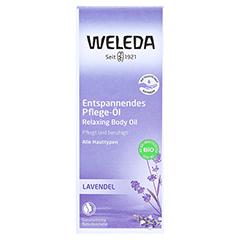 WELEDA Lavendel entspannendes Pflege-Öl 100 Milliliter - Vorderseite
