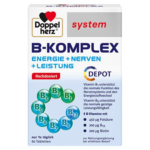 DOPPELHERZ B-Komplex system Tabletten 60 Stück