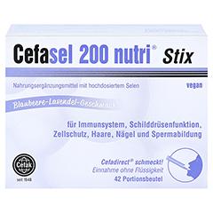 CEFASEL 200 nutri Stix Granulat 42 Stück - Vorderseite