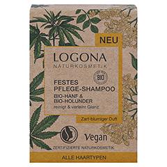 LOGONA Festes Pflege Shampoo Bio-Hanf&Bio-Holunder 60 Gramm - Vorderseite