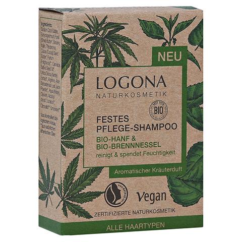 LOGONA Festes Pflege-Shamp.Bio-Hanf&Bio-Brennness. 60 Gramm
