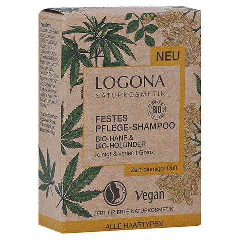 LOGONA Festes Pflege Shampoo Bio-Hanf&Bio-Holunder 60 Gramm