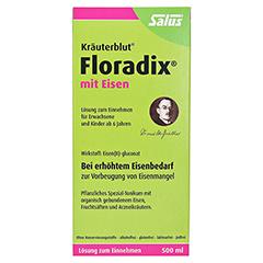 Floradix mit Eisen 500 Milliliter - Vorderseite