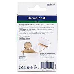 DERMAPLAST protect Pflaster 6x10 cm 10 Stück - Rückseite