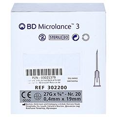 BD MICROLANCE Kanüle 27 G 3/4 0,4x19 mm 100 Stück - Rechte Seite