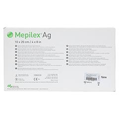 MEPILEX Ag Schaumverband 10x20 cm steril 5 Stück - Rückseite