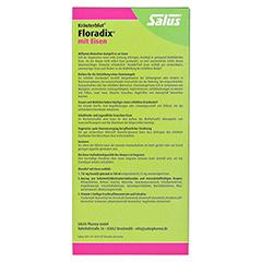 Floradix mit Eisen 500 Milliliter - Rückseite