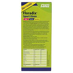 Floradix Sport Eisen Tonikum 250 Milliliter - Rückseite