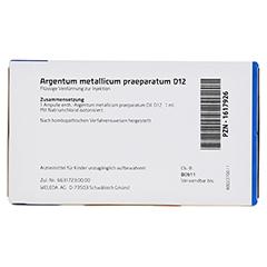 ARGENTUM METALLICUM praeparatum D 12 Ampullen 8 Stück N1 - Rückseite